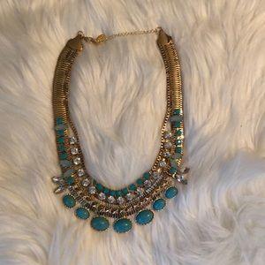 Cara stone & rhinestone collar necklace